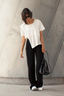 White-studio-crop-cyeoms-top-black-palazzo-zara-pants