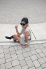 Heather-gray-melissa-araujo-dress-white-sports-bra-adidas-intimate