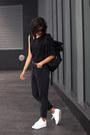 White-leather-reebok-shoes-black-mom-topshop-jeans-black-backpack-ynot-bag