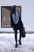 black creepers TUK shoes - heather gray knit circle American Apparel scarf