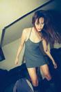 Charcoal-gray-everyday-dress-cyeoms-dress-black-sheer-knee-sock-american-appar