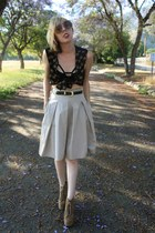 London Fog vest - Zara skirt - litas Jeffrey Campbell heels