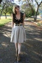 London Fog vest - Zara skirt - litas Jeffrey Campbell heels