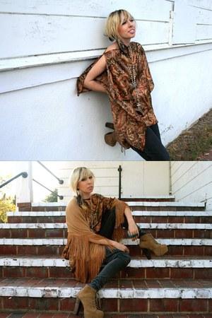 H&M scarf - lita platforms Jeffrey Campbell heels - top