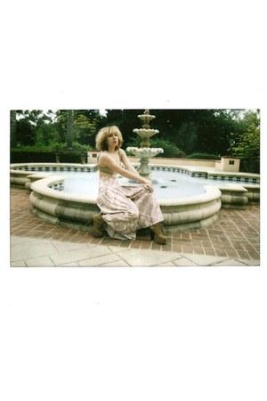 floral culottes vintage pants - lita platforms Jeffrey Campbell heels - American