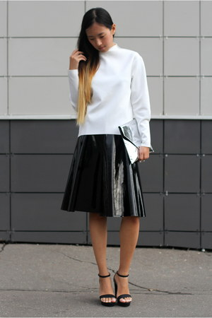 black asoscom skirt - white Zara top