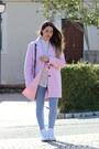Light-pink-wool-bershka-coat-periwinkle-cotton-pimkie-leggings