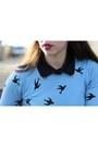 Black-wool-blunauta-coat-sky-blue-cotton-chicnova-sweater