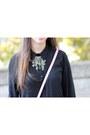Black-leather-kurt-geiger-shoes-black-chiffon-lookbook-store-shirt