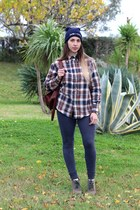 navy wool headict hat - navy cotton Alcott leggings