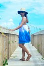 Blue-thrifted-dress