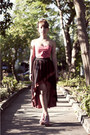 Brick-red-mullet-soho-central-skirt-hot-pink-bustier-intimate