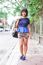 Navy-suede-forever-21-shoes-navy-scarf-print-shorts