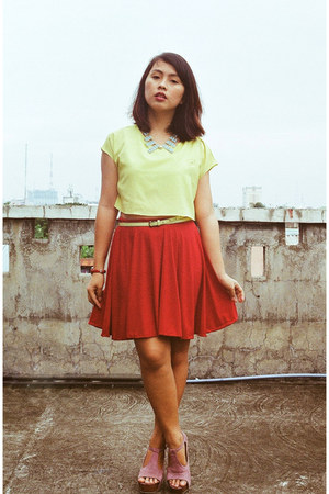 top - made by me skirt - Trinkets MNL necklace