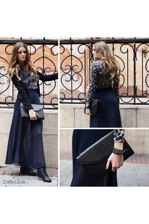 black Modesta boots - black paneled jacket nikibiki jacket