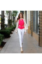 camel Dailylook shoes - peach Dailylook blazer - white Dailylook pants