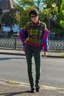 Pantent-leather-h-m-shoes-chanel-like-vintage-trifted-jacket