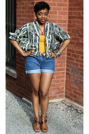 Unlisted shoes - vintage jacket - Levis shorts - Forever 21 top