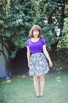 purple crop top Forever21 top - black Payless shoes