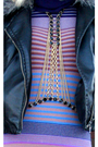 Purple-h-m-dress-black-express-jacket-gold-vintage-necklace-black-ebay-boo