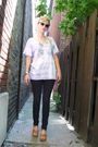 Blue-diy-shirt-black-target-jeans-beige-kork-ease-shoes-gold-sunglasses-