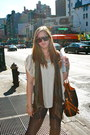 Navy-express-jeans-beige-cohoes-shirt-dark-brown-street-vendor-scarf