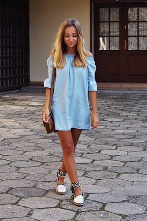 sky blue new look dress