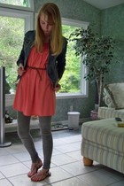 sophie max dress - hollister jacket - Sparkle & Fade leggings - Urban Outfitters