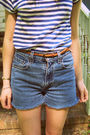 Blue-h-m-shirt-blue-diy-shorts-brown-thrifted-shoes-pink-urban-outfitters-