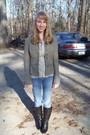 Brown-free-people-coat-white-anthropologie-shirt-blue-hollister-jeans-blac