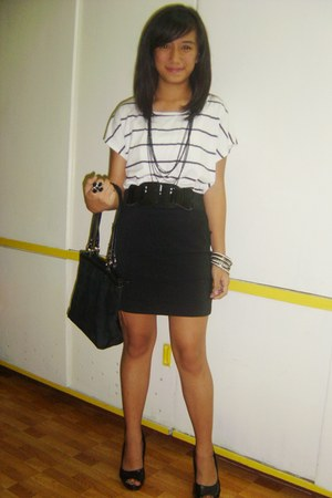 white kids of bayo shirt - black Cole Vintage skirt - black Ilaya Couture shoes