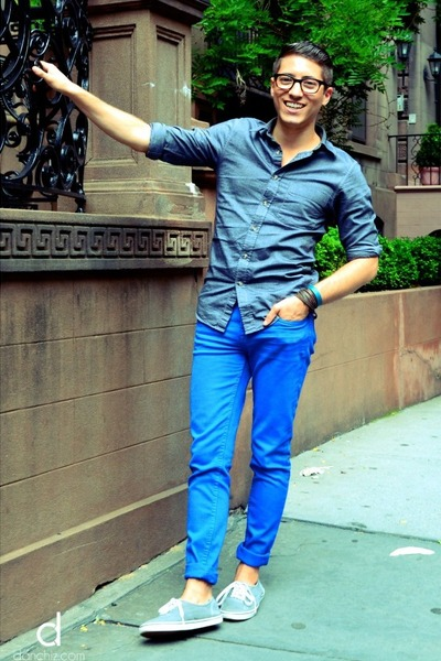 Images of Blue Pants Men - Kianes
