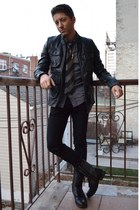 black Candies boots - black H&M jacket - charcoal gray Topman shirt
