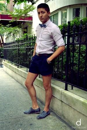 blue The Tie Bar tie - charcoal gray Alberto Ferami shoes