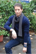 black Call it Spring boots - navy Levis jeans - navy Club Monaco sweater