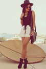 Black-forever-21-boots-black-satchel-splash-bag-white-lace-2xtremz-shorts
