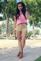 Zara shirt - H&M boots - Forever21 shorts