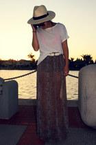 Forever21 skirt - H&M hat - Forever21 shirt - Forever 21 bra