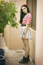 Brown-marcus-b-boots-cream-torn-by-sonny-kobo-skirt-brown-teresa-ruiz-belt