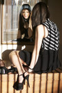 Black-striped-thrifted-vest-black-american-apparel-skirt-black-fendi-heels