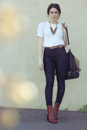 gold poppy lissiman necklace - tawny beau coops boots