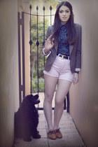 brown Zimmerman blazer - tawny Nylon shoes - light pink vintage shorts