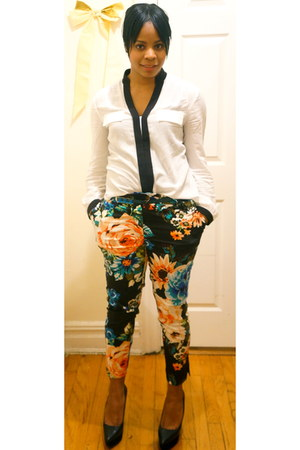 H&M pants - Express blouse - Aldo wedges