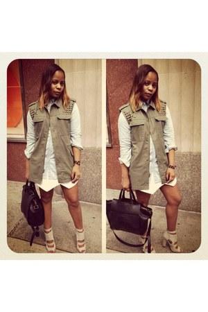 Forever21 shirt - Urban Outfitters vest - Zara skirt