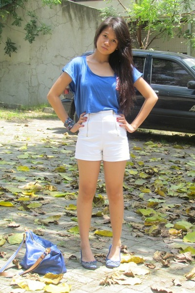 Folded and Hung shorts - Anti Fashion top - Forever 21 accessories