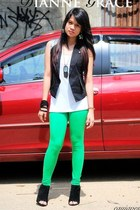 Sofab shoes - street beat botique leggings - WAGW top - street beat botique vest