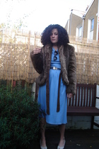 blue Cava dress - Bruno Magli shoes - brown unknown brand sunglasses - brown Zar