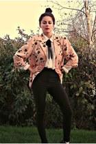 peach eOvu vintage blazer