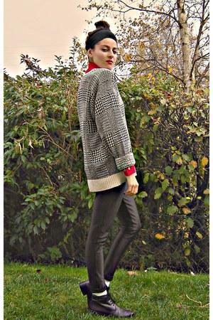 eggshell 100 silk Ralph Lauren sweater - red corduroy American Apparel shirt