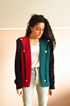 ruby red structured eOvu vintage cardigan